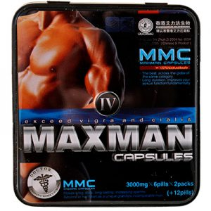 Биодобавка MAXMAN IV (12 капс.) для повышения потенции.